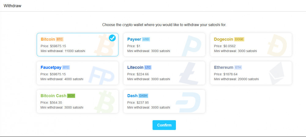 CoinPayU Withdraw Options